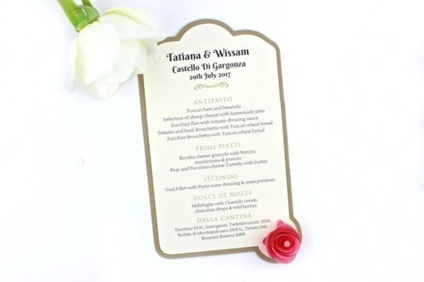 boho chic wedding menu