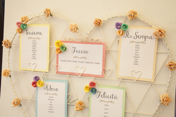 boho chic table plan