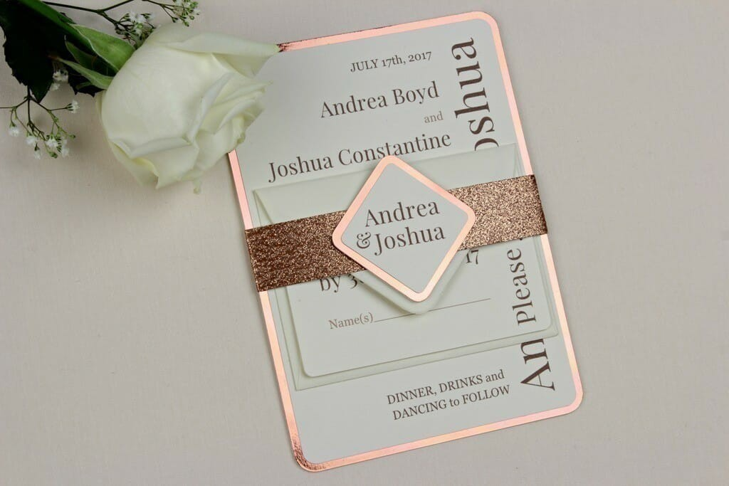 Shine Copper Wedding Invitations Love Storey Weddings