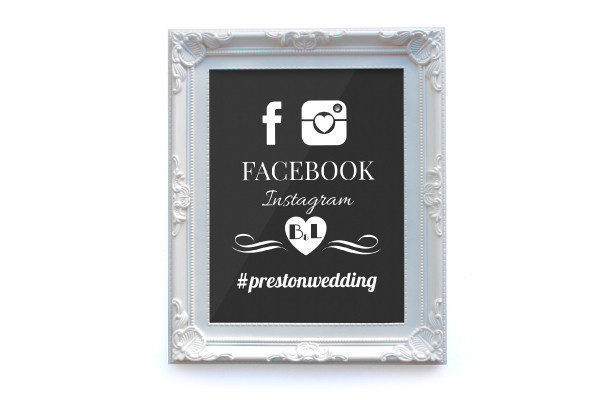 wedding social media sign