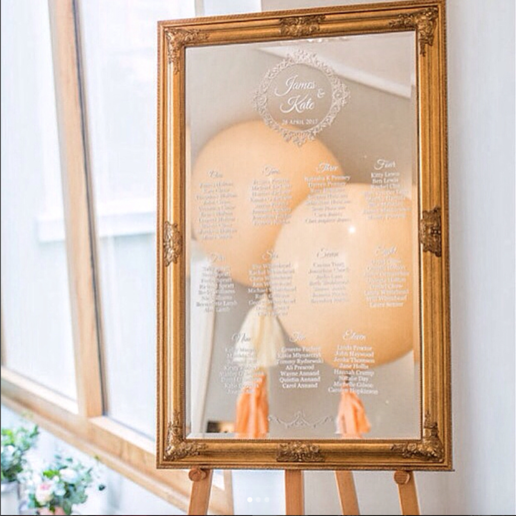 mirror table plan circle frame - 9