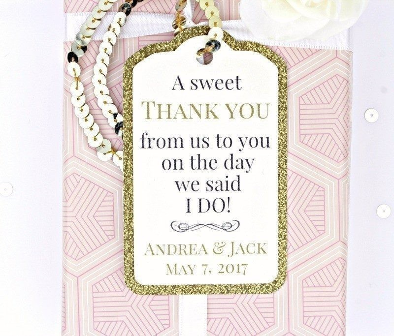 Luxe Gold Glitter Gift Tags