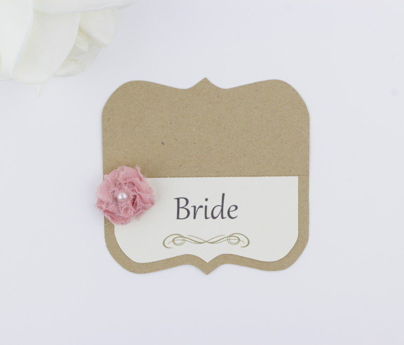 Wedding Place Cards.Shabby Chic Wedding Place Cards