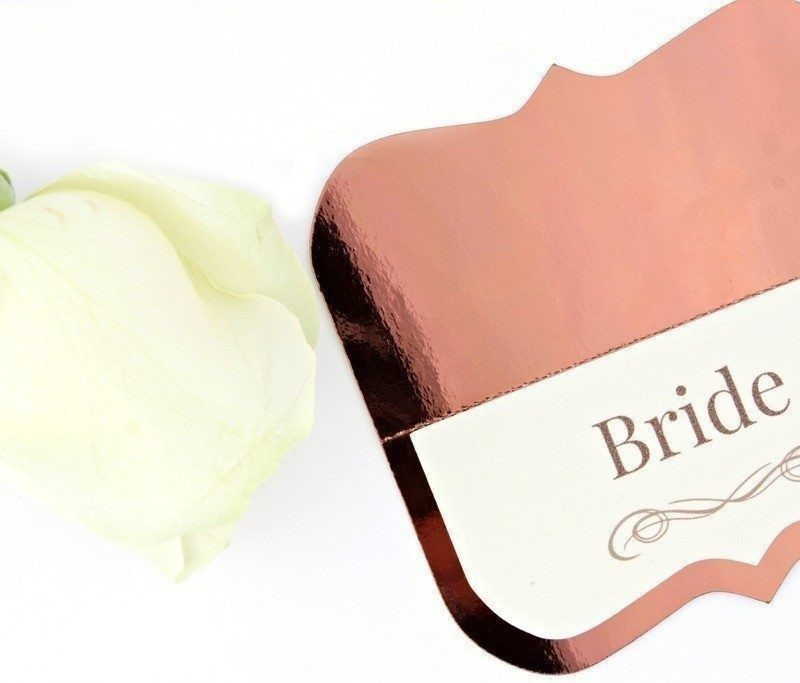 Shine Copper Wedding Place Cards