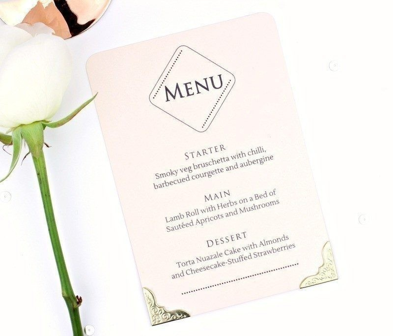 The One Rose Quartz Menu