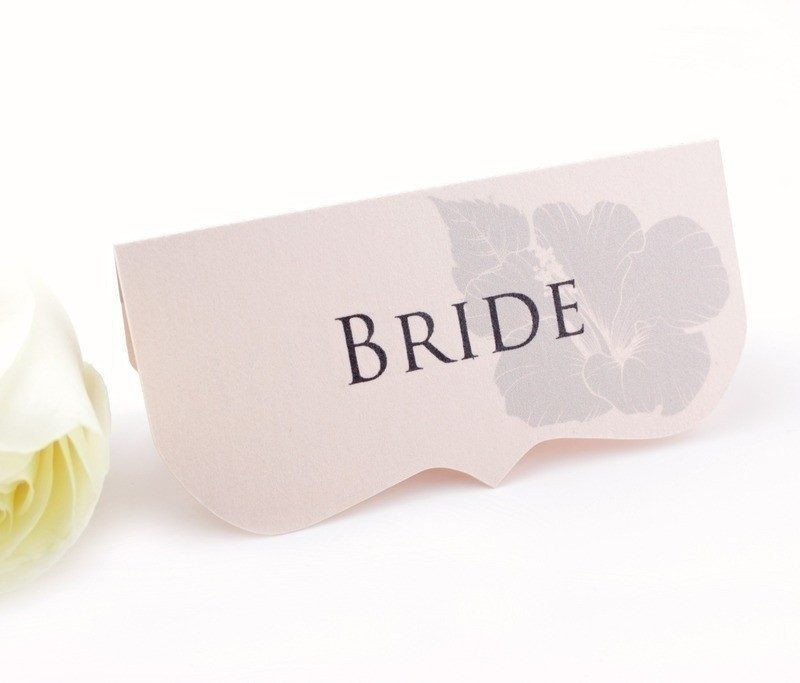 The One Rose Quarts Wedding Place Cards