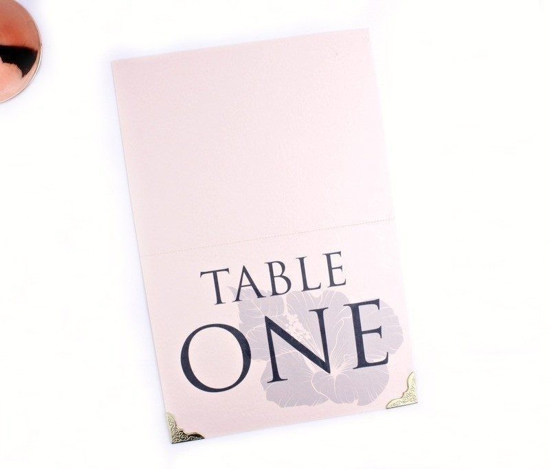 The One Rose Quartz Table Numbers