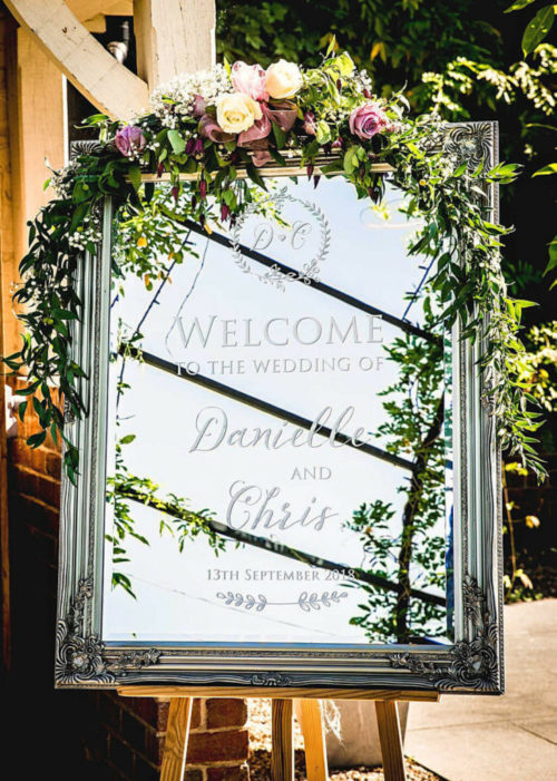 wedding mirror welcome sign 4